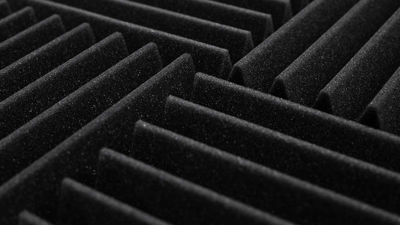 Panel absorbente de espuma acústica